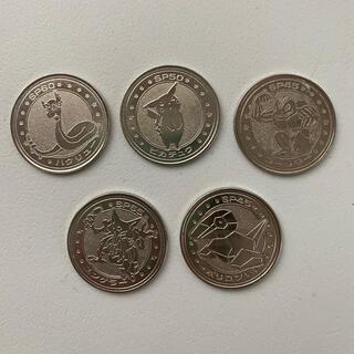 ニンテンドウ(任天堂)のポケモンバトルコイン 5枚セット(バッジ/ピンバッジ)