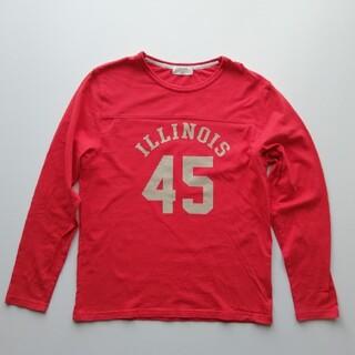 バックナンバー(BACK NUMBER)のバックナンバー/染込プリントフットボールシャツ/美USED(Tシャツ/カットソー(七分/長袖))