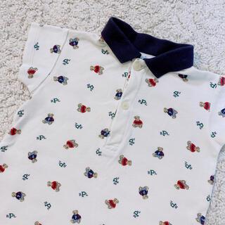 ラルフローレン(Ralph Lauren)のラルフローレン  ポロベア  半袖ロンパース  3-6M  60cm(ロンパース)