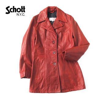 ショット(schott)の希少★USA製 Rose Schott ショット レザーコート/チェスター(テーラードジャケット)