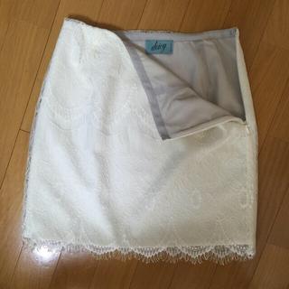 デイシー(deicy)のdeicyレースタイトスカート♡白♡新品(ミニスカート)