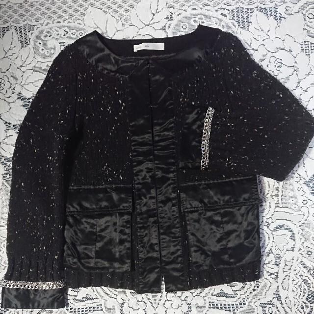 sacai luck(サカイラック)の超美品◆sacai lucK ◆ サカイ ツイードニット ジャケット カーデ レディースのジャケット/アウター(ノーカラージャケット)の商品写真