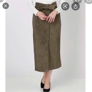 ムルーア(MURUA)のMURUAスエードタイトスカート(ひざ丈ワンピース)
