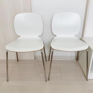 イケア(IKEA)のIKEA ダイニングチェア svenbertil ホワイト 2脚セット(ダイニングチェア)