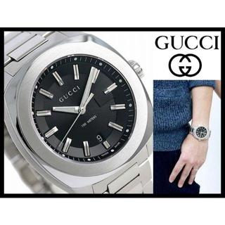 Gucci - 定価14万 新品 グッチ GG2570 44mm 黒文字盤 クォーツ 腕時計