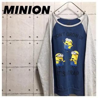 ミニオン(ミニオン)のminionミニオン•ロンT•長袖•XL•キャラクターTシャツ(Tシャツ/カットソー(七分/長袖))