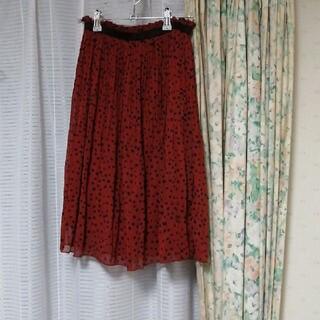 ギャルスター(GALSTAR)のギャルスター スカート ドット 水玉 赤 エンジ レディース(ひざ丈スカート)