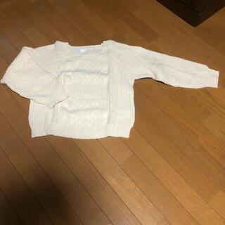 ショコラフィネローブ(chocol raffine robe)のアイボリーニット(ニット/セーター)