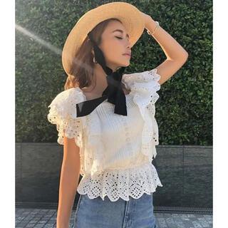 eimy istoire - 新品未使用♡eimyistoire♡スカラフリルピンタックトップス ホワイト