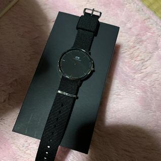 ダニエルウェリントン 腕時計 36mm シルバー ブラック