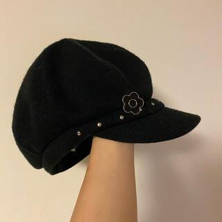 マリークワント(MARY QUANT)のマリークワント キャスケット 帽子 ブラック(キャスケット)