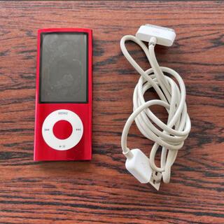 アイポッド(iPod)のApple iPod nano 第5世代 16GB レッド(ポータブルプレーヤー)