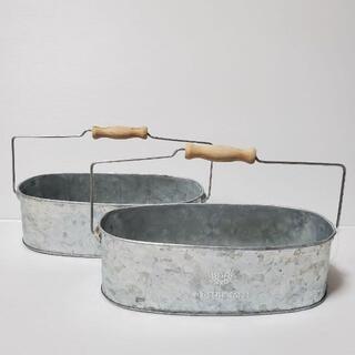 (79)植木鉢2個セット 底穴あり 新品(プランター)