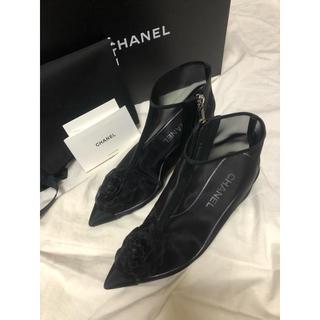 シャネル(CHANEL)の美品 シャネル チュール ショートブーツ(ブーツ)