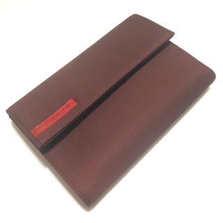 プラダ(PRADA)のPRADA SPORTS プラダスポーツ ナイロン 折財布 赤茶 (折り財布)