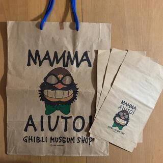 ジブリ(ジブリ)のジブリ美術館 MAMMA AIUTO! ショップ袋 小は未使用(その他)