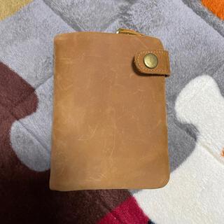 レザー 二つ折り財布 コンパクト財布/U字型ファスナー小銭入(折り財布)