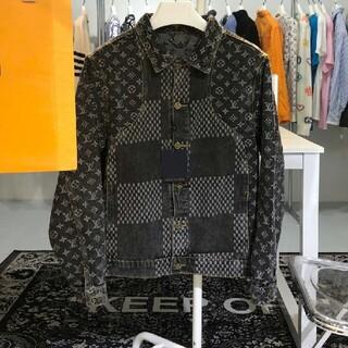 ルイヴィトン(LOUIS VUITTON)のニューファッションブラックグレーのデニムジャケット    デニムジャケット(Gジャン/デニムジャケット)
