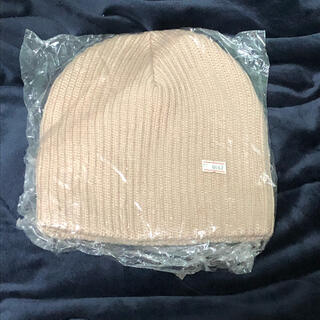 ニット帽 新品未使用 ライトベージュ(ニット帽/ビーニー)