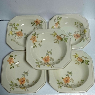 ミカサ(MIKASA)のmikasa カレー皿 パスタ皿 深皿  昭和レトロ ☆ 5枚セット(食器)