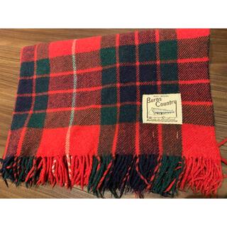 スコットランド製ウール100%マフラー ストール 膝掛け(マフラー/ショール)