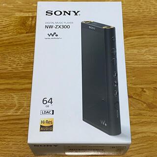 ウォークマン(WALKMAN)の【最終値下げ】SONY NW-ZX300 ブラック 美品(ポータブルプレーヤー)