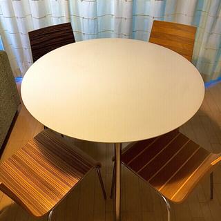 アクタス(ACTUS)のACTUS  丸テーブル x チェアー イタリア製(ダイニングテーブル)