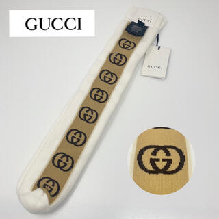 グッチ(Gucci)の未使用☺︎GUCCI グッチ ソックス ホワイト 白 GG 靴下 24 26(ソックス)
