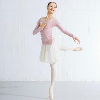 チャコット(CHACOTT)のChacott THE BALLET ★レーススカート サンド×ホワイト2(ダンス/バレエ)