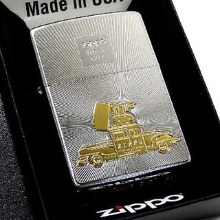 ジッポー(ZIPPO)の(送料込み)ZIPPO◇シルバープレート◇ジッポカー/ゴールド◇ ジッポ(タバコグッズ)