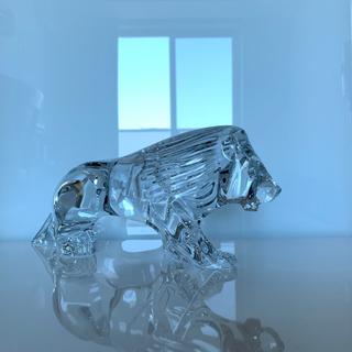 バカラ(Baccarat)の✯ 極レア 高級 Baccarat 百獣の王 ライオンキング 置物 クリスタル✯(置物)