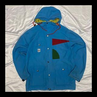 チャムス(CHUMS)のCHUMS / チャムス ナイロン ジャケット レインパーカー コート ブルー(ナイロンジャケット)