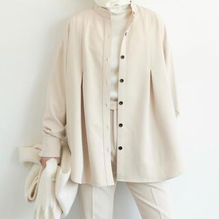 アントマリーズ(Aunt Marie's)のタックバンドカラーシャツジャケット(シャツ)