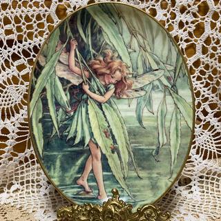 ロイヤルウースター(Royal Worcester)の 75周年記念 ロイヤルウースター フラワーフェアリー  【柳の妖精】飾り皿(置物)