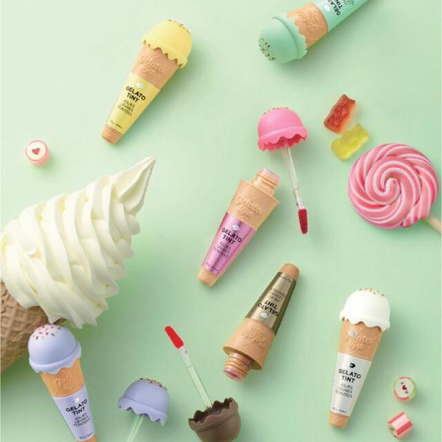 THE FACE SHOP(ザフェイスショップ)のジェラートティント 05 ブラウンボンボン コスメ/美容のベースメイク/化粧品(口紅)の商品写真