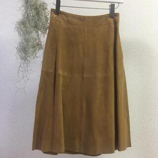 スティーブンアラン(steven alan)の新品タグ付き Steven Alan 本革 レザー スカート(ひざ丈スカート)