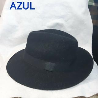 アズールバイマウジー(AZUL by moussy)のアズール AZULハット 帽子 黒フリー(ハット)
