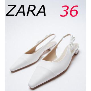 ザラ(ZARA)の新品 ZARA サイドリボンフラットミュール 36(ミュール)