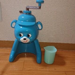 タイガー(TIGER)のタイガー 氷削り器 きょろちゃん 復刻版 ブルー かき氷(調理道具/製菓道具)