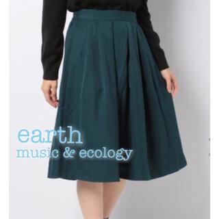 earth music & ecology - earth music & ecology タックミディスカート ひざ丈スカート
