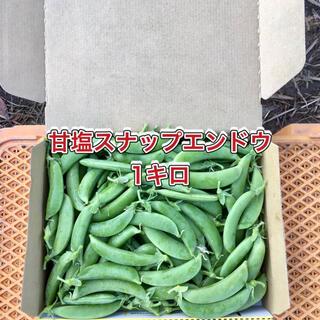 【鹿児島産】甘塩スナップエンドウ箱込み1キロ^_^(野菜)