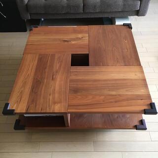 無垢木材ローテーブル【目黒通りBRUNCH、廃版もの】(ローテーブル)