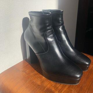 ランダ(RANDA)のショートブーツ(黒)(ブーツ)