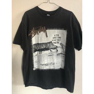 ステューシー(STUSSY)の【人気ブランド】stussy tシャツ 00s ブラック バックプリント(Tシャツ/カットソー(半袖/袖なし))