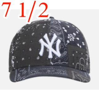 シュプリーム(Supreme)のKITH FOR NEW ERA YANKEES CAP  黒 7 1/2(キャップ)