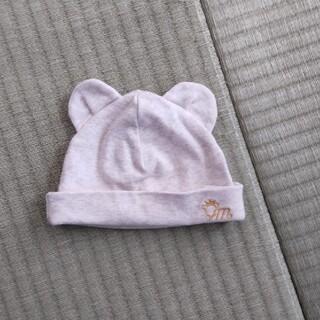 コンビミニ(Combi mini)の【美品】コンビミニ 耳付き新生児キャップ(帽子)