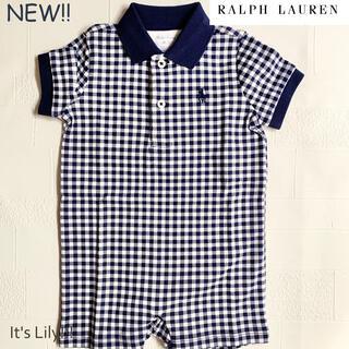 Ralph Lauren - ラルフローレン ロンパース 新作 ギンガムチェック  12m80cm