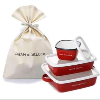 DEAN & DELUCA - ディーンアンドデルーカ ホーローコンテナ (S・M・L) 3個セット 限定カラー