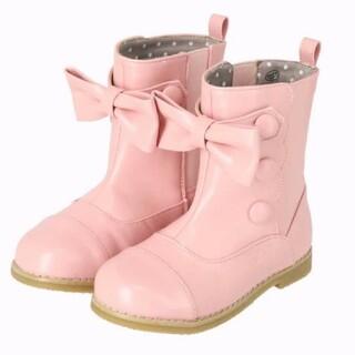 Shirley Temple - 新品 シャーリーテンプル リボンスカラップブーツ ピンク 18
