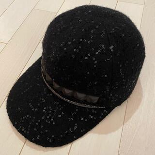 カシラ(CA4LA)のCA4LA カシラ 帽子 キャップ 黒 ブラック キャスケット ベレー帽(キャップ)
